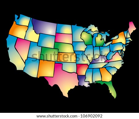 american maps - stock vector