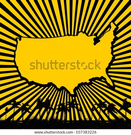 american palm beach - stock vector
