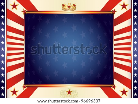 American patriotic background. An american background for your advertising. - stock vector
