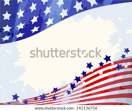 American patriotic flowing background, Independence day.