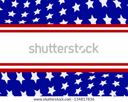 American patriotic Fourth of July banner, room for your text. - stock vector