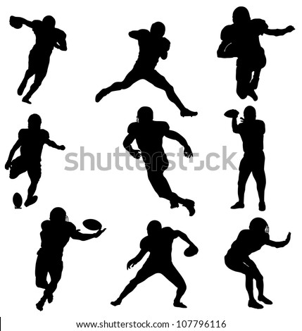 American players Football - stock vector
