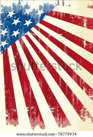 American poster. A grunge american poster . - stock vector