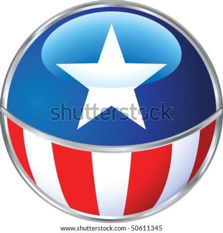 American sign - stock vector