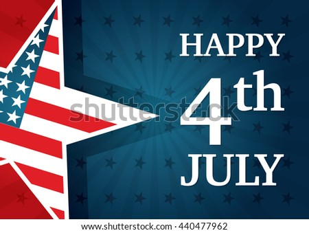 American star background for 4th of July, the United States of America Independence Day celebration, can be used as poster, banner or flyer design. CMYK colors. - stock vector