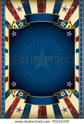 American star poster. American poster for your advertising. - stock vector