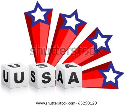 american stars - stock vector