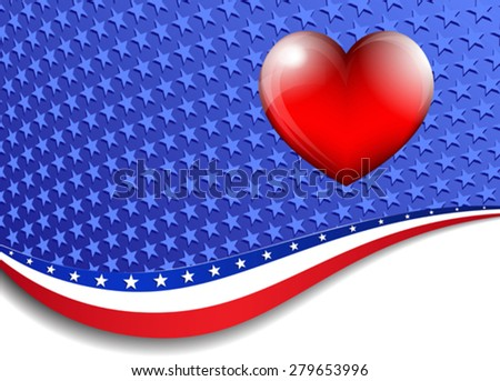 American, Stars and Stripes Background - There are more stars outside the mask, for you to mask as you like. - stock vector