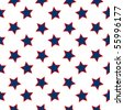 american stars flag pattern, abstract seamless texture; vector art illustration - stock vector