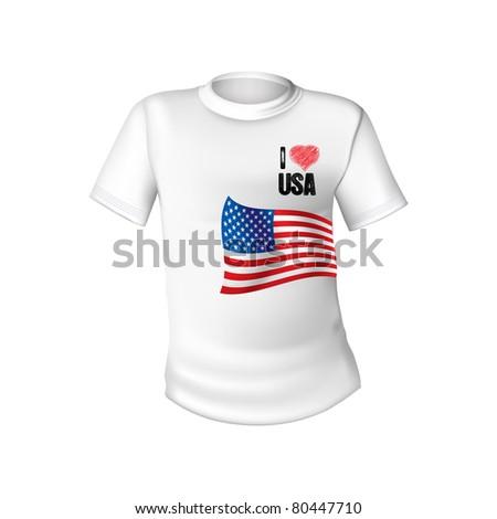 American stylish t-shirt - stock vector