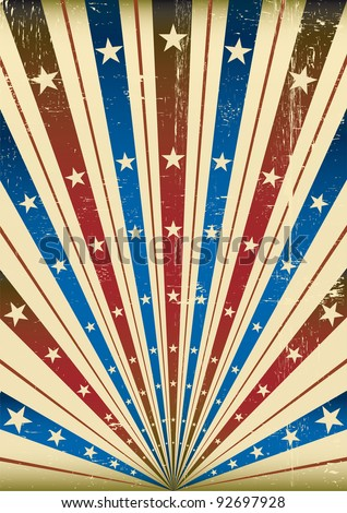 American sunbeams poster. An abstract background with a texture for a poster.