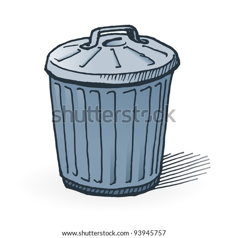 American Trash Can - stock vector