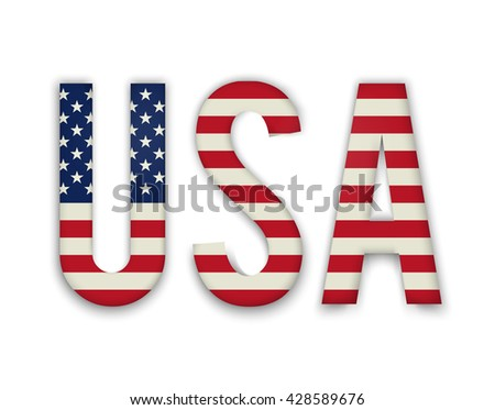 American United States Flag in glossy form button of icon. USA emblem isolated on white background. National concept sign. Independence Day Symbol. 4 July freedom patriotic banner with pride color - stock vector