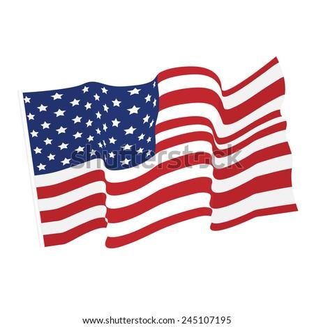american waving flag vector icon national stock vector 2018 rh shutterstock com waving flag vector illustrator waving flag vector mockup
