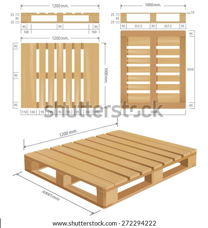wooden pallet dimension 3