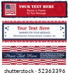 Americana Banners Too - stock vector