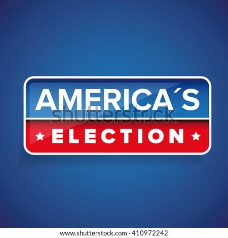 Americas Election vector button - stock vector