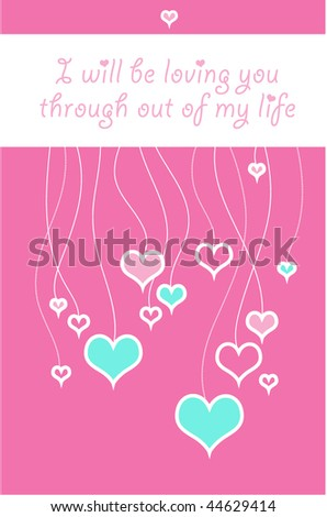 Amorous greeting card by Valentines day