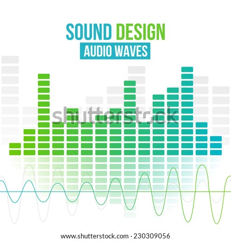 Amplifiers digital equalizer vector background. Vector illustration for flyers, posters, banners - stock vector