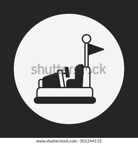 amusement park bumper cars icon