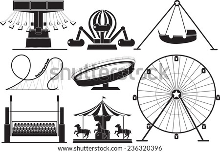 amusement park icon - stock vector