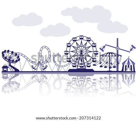Amusement Park vector illustration - stock vector