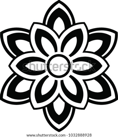 Abstrac Interest Symbol Serenity Peace Life Stock Vector Royalty