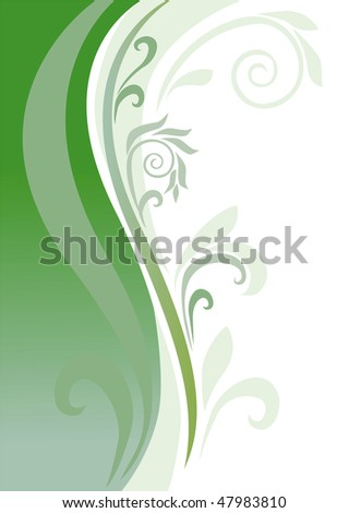 an abstract background is in green tones - stock vector
