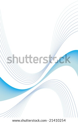 An abstract blue swirls design with plenty of copyspace. This vector image makes a great background for advertising. - stock vector