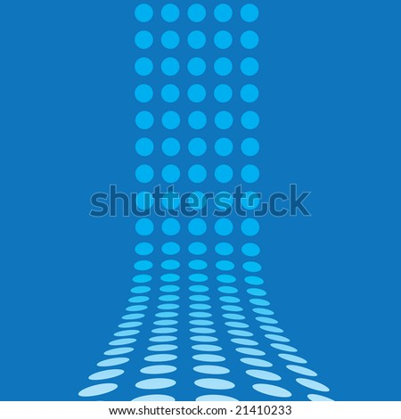 An abstract design template - dots forming a 3d wall.  This vector is fully customizable. - stock vector