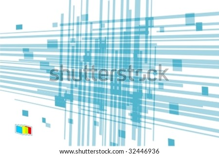 An abstract design template with place for sample text - stock vector
