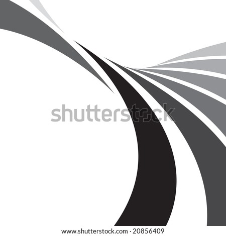 An abstract design template with plenty of copyspace. This vector image makes a great background. - stock vector