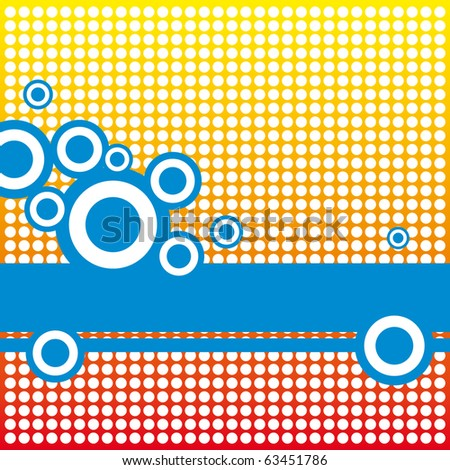 An abstract design with colorful dots arrange - stock vector
