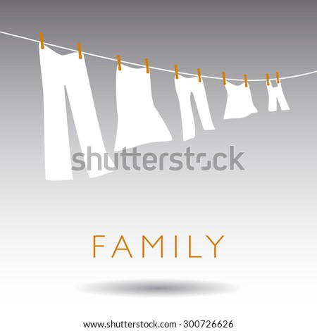 An Abstract Family Concept on a Gray Background - stock vector