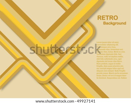 An abstract retro lines background in shades of yellow and brown saved in EPS10 format - stock vector