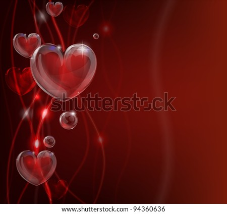 An abstract valentines day heart background illustration. - stock vector