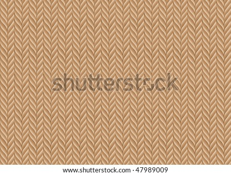 An abstract vector background based on knitted fabric in natural colours - stock vector
