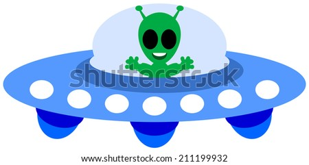 an alien ship - stock vector