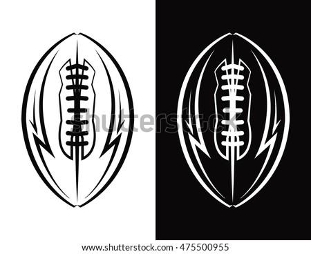american football ball icon emblem illustration stock vector