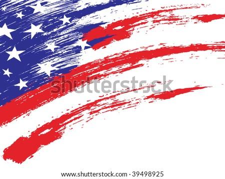 an American grungy flag - stock vector