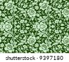 An antique floral background image - tileable and vector - stock vector