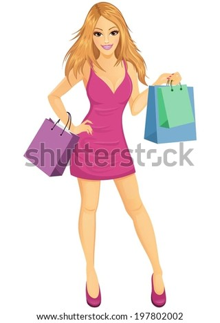 An attractive woman shopping.