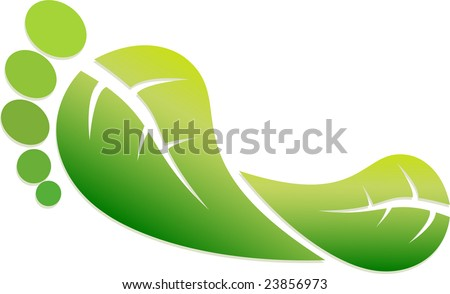 An Eco Friendly Footprint Illustration - stock vector