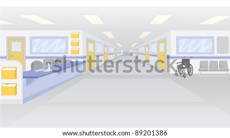 An empty hospital setting. - stock vector