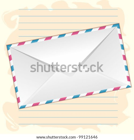 an envelope on the paper