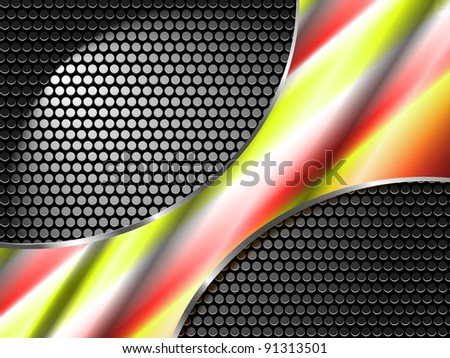 an eps10  metal vector background - stock vector
