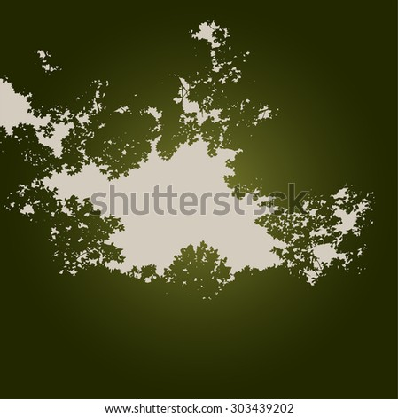 An Ethereal Tree Background With Space for Text - stock vector