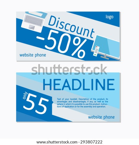 An example of a flyer. Discount. Vector graphics