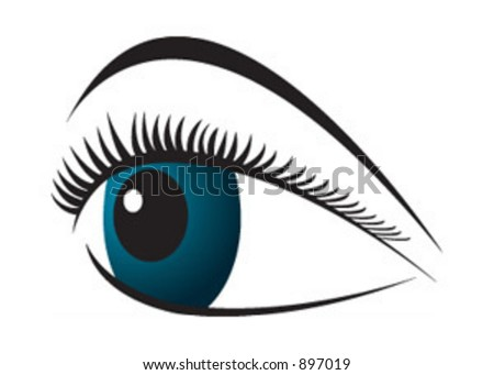 An eye logo or symbol in vector format - stock vector