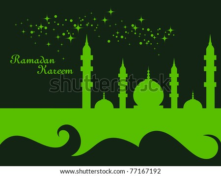 an greeting card for ramazan mubarak
